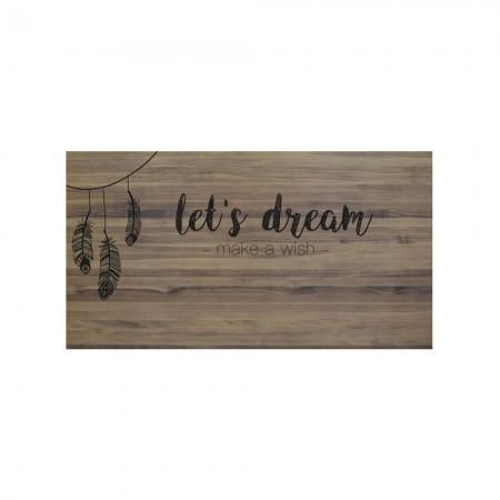 Tête de lit effet vieilli let's dream