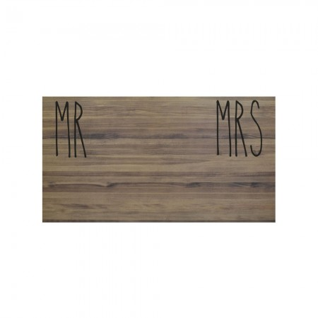 Cabecero envejecido mr and mrs