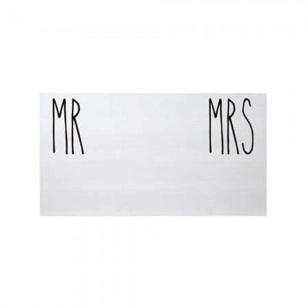 Cabecero blanco estampado mr and mrs