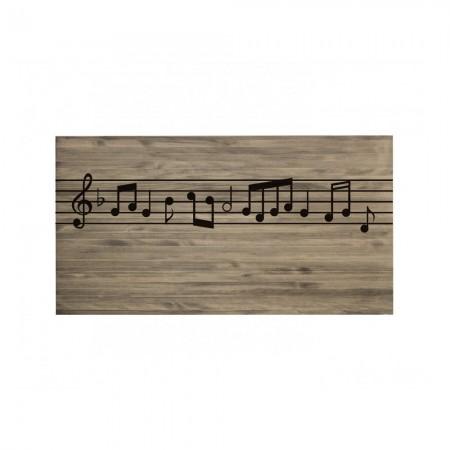 Tête de lit effet vieilli partition musicale