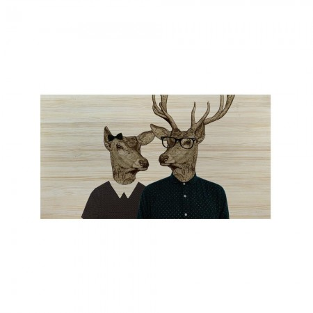 Tête de lit en bois naturel rennes hipster