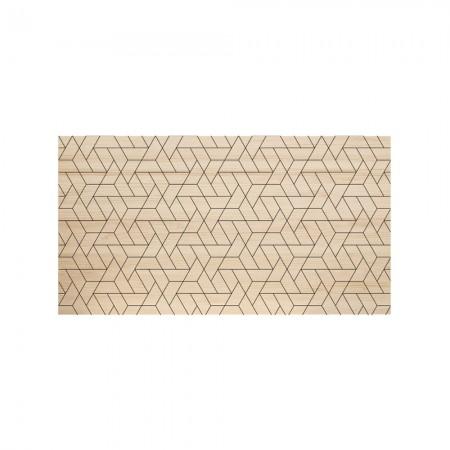 Tête de lit en bois naturel lignes geo
