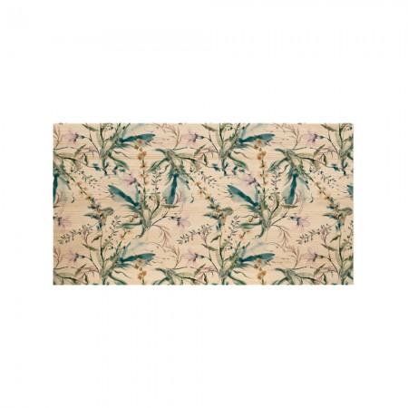 Tête de lit en bois naturel florale romantique