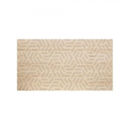 Tête de lit en bois naturel géométrique nordique