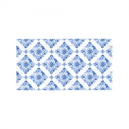Tête de lit décapage 'Aquarelle bleue'