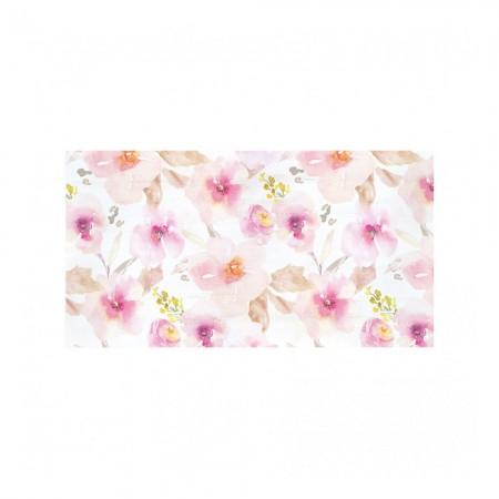 Tête de lit décapé motif floral