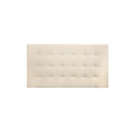 Tête de lit simili cuir plissée beige