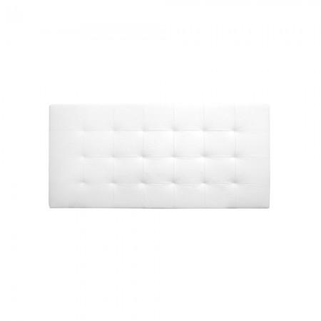Tête de lit simili cuir plissée blanc