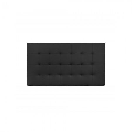 Têtes de lit simili cuir plissée noir