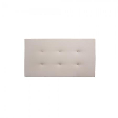 Tête de lit simili cuir boutons marron