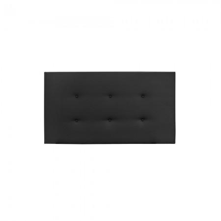 Tête de lit simili cuir boutons noir