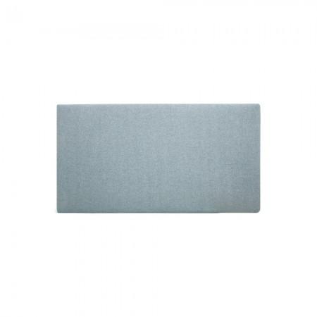 Tête de lit polyester lisse bleu-vert