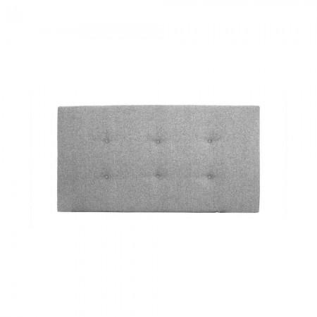 Tête de lit polyester boutons gris