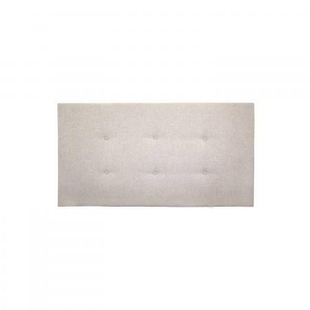 Tête de lit polyester boutons beige