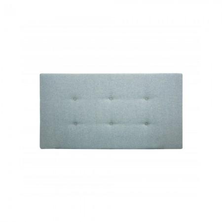 Tête de lit polyester boutons bleu-vert