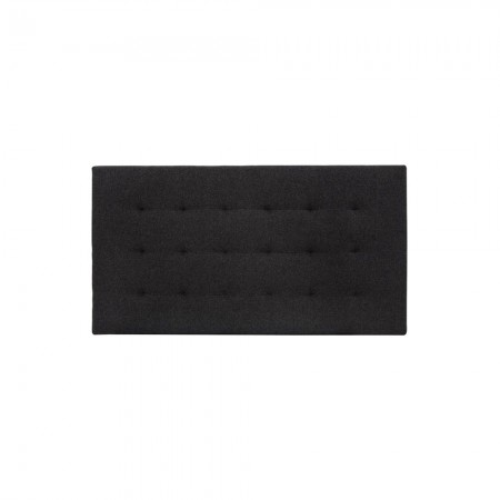 Tête de lit polyester plissée noir