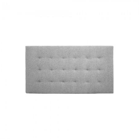 Tête de lit polyester plissée gris