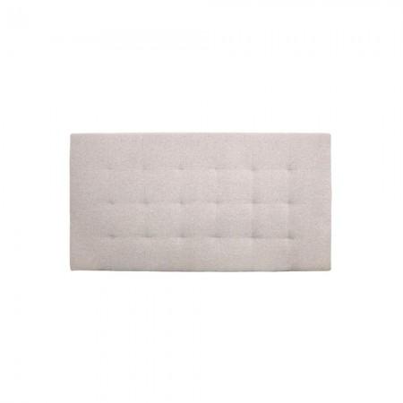 Têtes de lit polyester plissée beige