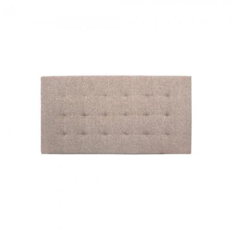 Tête de lit polyester plissée marron