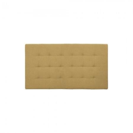Tête de lit polyester plis moutarde
