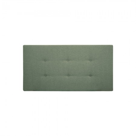 Tête de lit polyester boutons vert