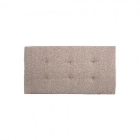 Tête de lit polyester boutons marron