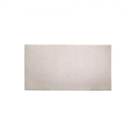 Têtes de lit polyester lisse beige