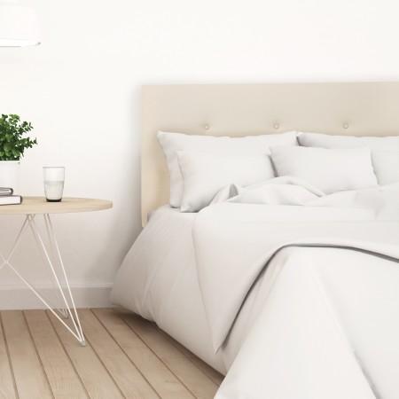 Tête de lit simili cuir boutons beige