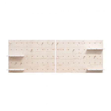 Tête de lit en bois panneau d'accessoires