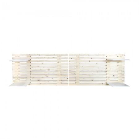 Tête de lit de lattes en bois