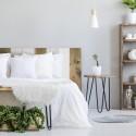 Tête de lit flandrée vintage et blanche
