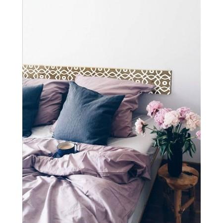 """Tête de lit en bois antique '' Mosaïque blanche """""""
