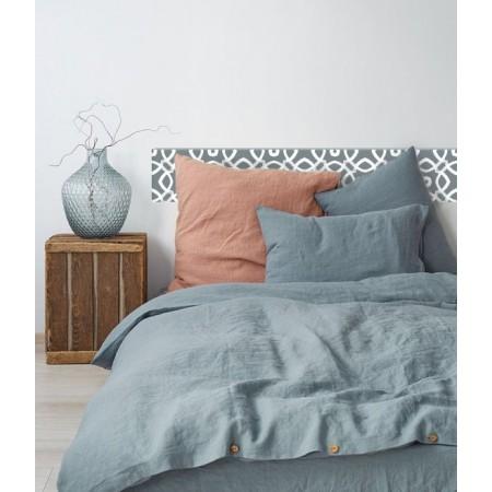 Tête de lit bleue en bois de décapage 'White Mosaic'