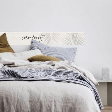 Tête de lit en bois de saumure 'Serendipity tropical'