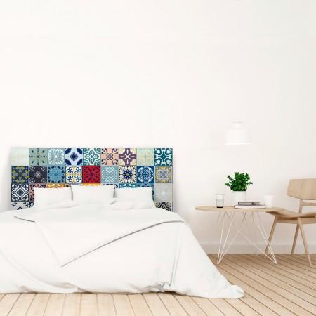 Tête de lit en blanc hydraulique couleurs