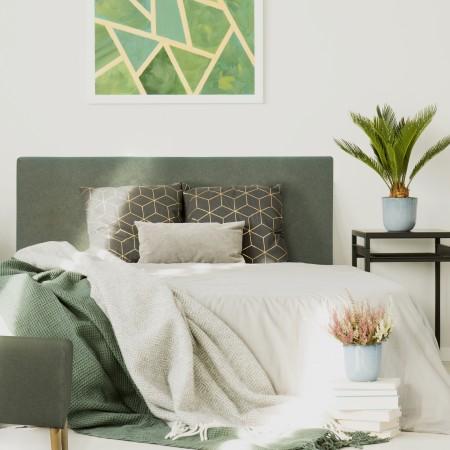 Tête de lit polyester lisse vert