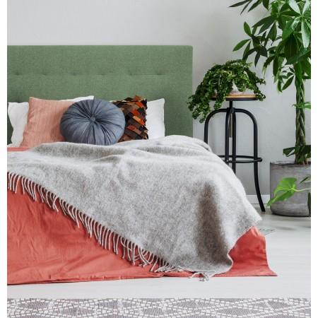 Tête de lit polyester plis vert