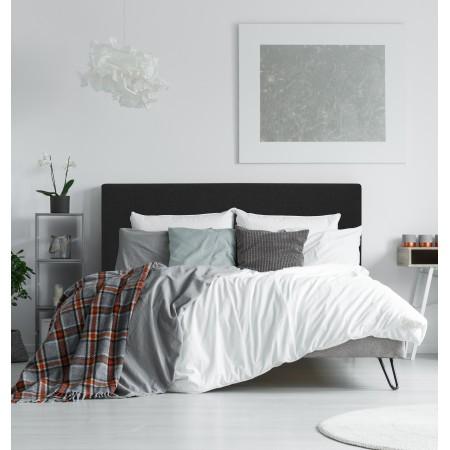 Tête de lit polyester lisse noir