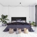 Tête de lit verticale asymétrique blanche