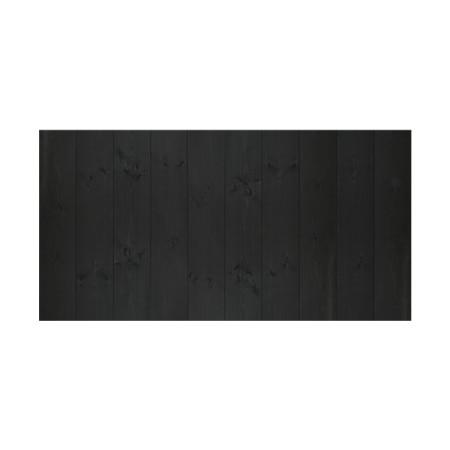 Tête de lit vertical noir