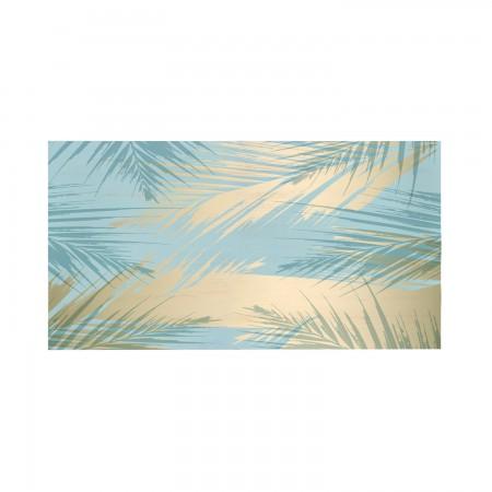 """Tête de lit décapée """"Golden Palms"""""""