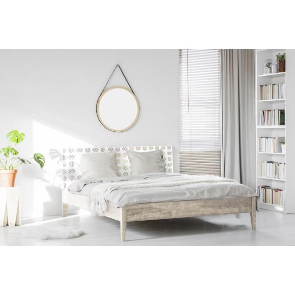 Tête de lit décapée mosaïque vintage