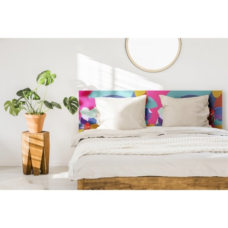 """Tête de lit décapée """"Pink Flowers"""""""