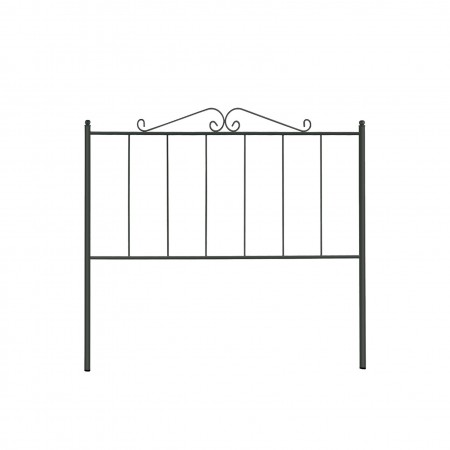 Tête de lit en forge noire