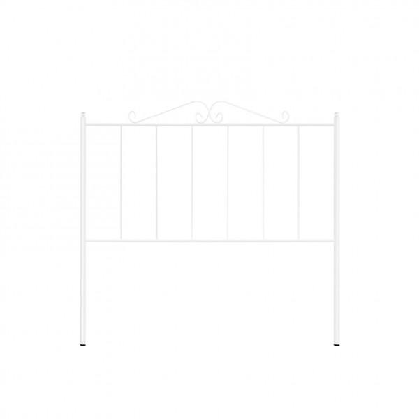 t te de lit forg e blanche. Black Bedroom Furniture Sets. Home Design Ideas