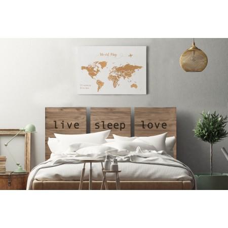 Tête de lit triptyque âgé aime vivre dormir