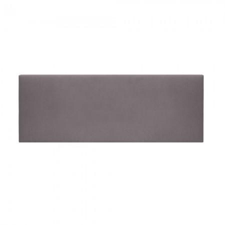 Tête de lit tapissée Mimuk lisse gris