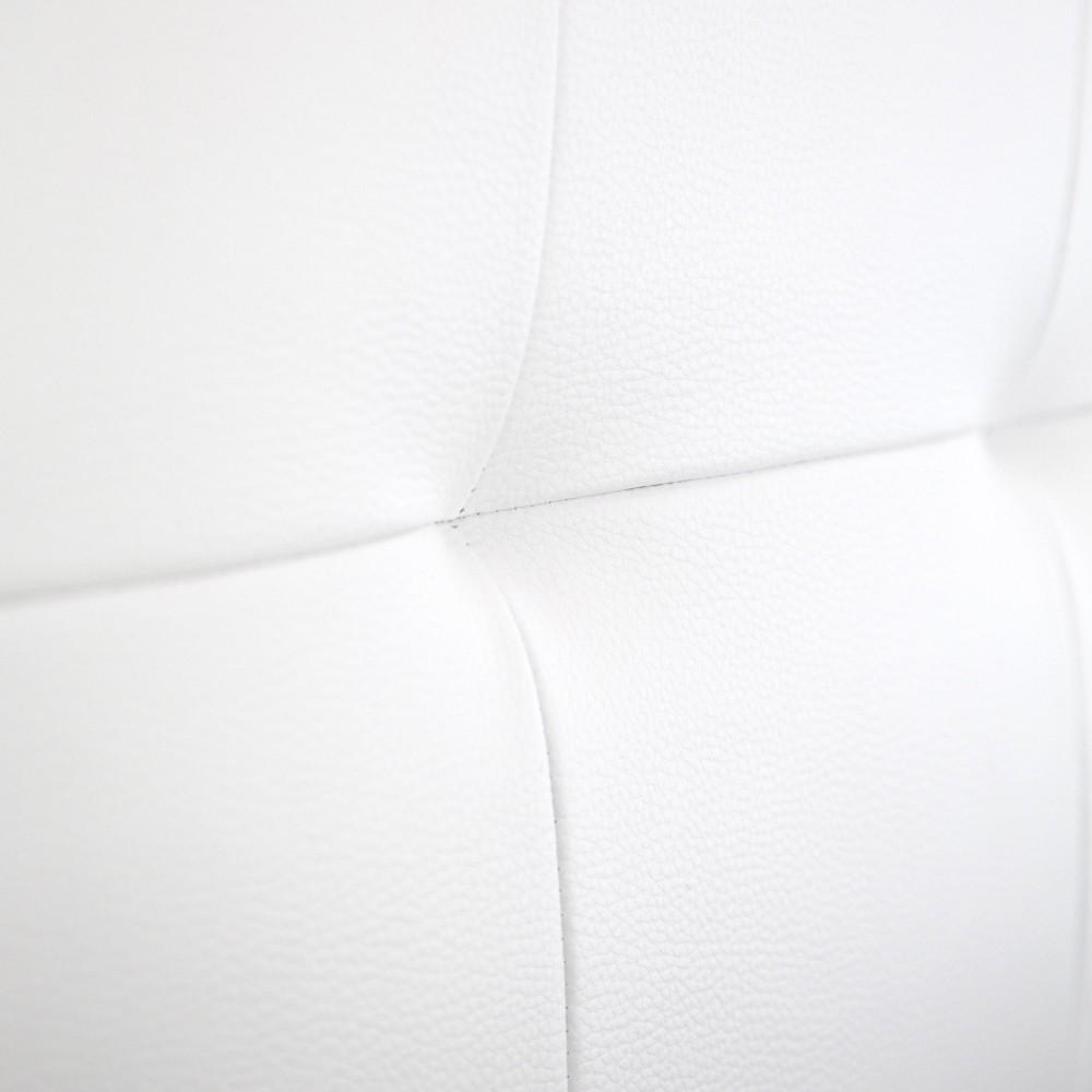 t te de lit simili cuir pliss e blanc vente de toutes. Black Bedroom Furniture Sets. Home Design Ideas