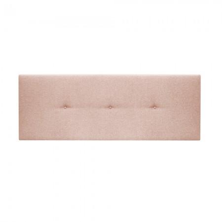 Tête de lit tapissée Hoola boutons rose pale