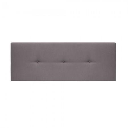 Tête de lit tapissée Mimuk boutons gris